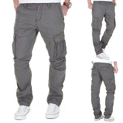 Cargo Hose Herren Cargohose Outdoor Pants Army Camouflage Jeans Chino Vintage