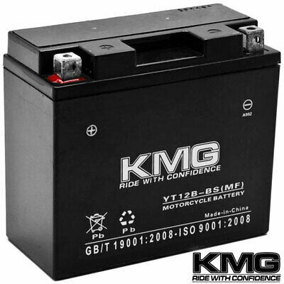 12V Battery KMG Motorcycle Scooter ATV Snowmobile Mowers PWC Watercraft YT12B-BS