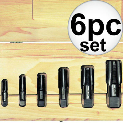 Irwin 6 Pc. Cut Thread Taper Pipe Tap (HSS) Set 1924ZR New