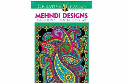 Creative Haven Mehndi Designs Coloring Book Patters Inspiration Adults Children