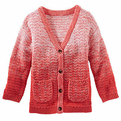 Oshkosh Baby Girls Coral MARLED OMBRÉ CARDIGAN Sweater 3M 9M NWT