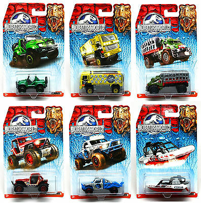 Jurassic World Matchbox Die Cast Cars New in Package