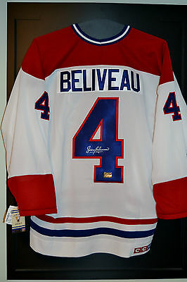 Jean Beliveau Signed Montreal Canadiens CCM White Jersey