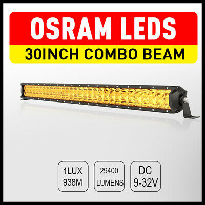 7INCH 28800W CREE LED Work Driving Spotlights Off Road 4WD HID Round black truck