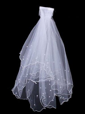 2-Tier New White Wedding Bridal Veil with Comb PK