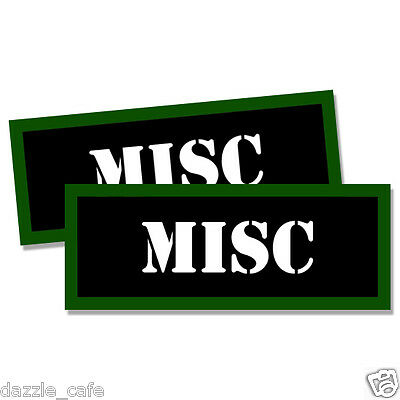 "MISC Ammo Can Labels Ammunition Case stickers MISC decals 2 pack  3""x1.15"""