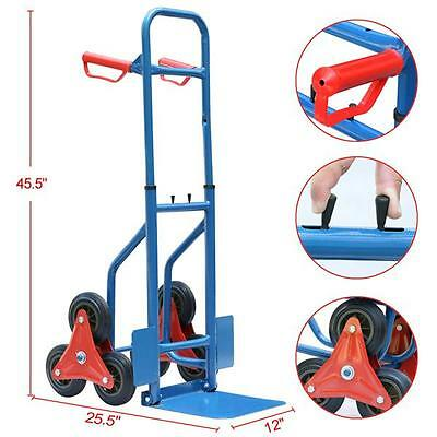 200Kg Heavy Duty 6 Wheels Stair Climber Cart Sack Truck Hand Trolley Folding New