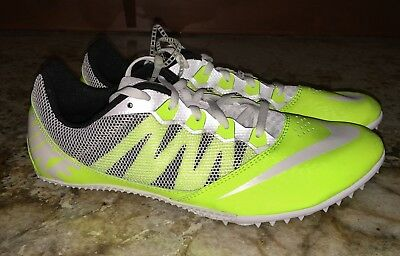 lowest price 9b037 363f5 NIKE RIVAL S 7 Volt White Sprint Track Spike New Mens 10 10.5 11 11.5 12