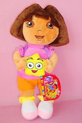 1Pc 32Cm Dora The Explorer With Backpack Plush Doll Soft Bear Kid Stuffed Toy