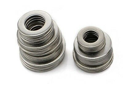 100Pcs M1.6- M16 Flat Washers 304 Stainless Steel DIN125 Penny Repair Washers