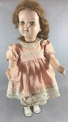"""Vintage Hard Plastic Wanda Walker Doll Working Condition See Video18"""" Tall"""