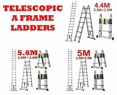 All Sizes Multi-Purpose Aluminium Telescopic Extendable A Frame Bar Ladder Step