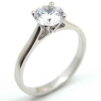 Diamond-Unique 1.5ct Solitaire Engagement Ring 9ct Gold Fully Hallmarked