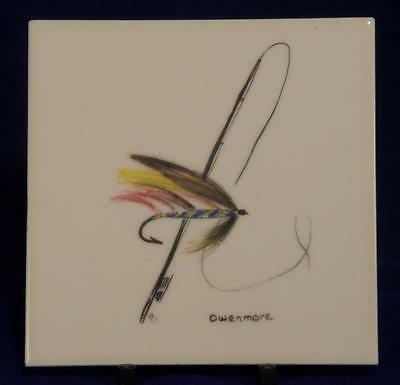 Vintage Thynne Tile Fly Fishing Signed Owenmore