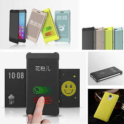 Windows Smart Flip PU Leather Raster Protective Case Cover For Huawei Honor 7