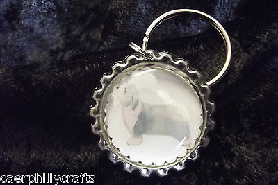 Bearded Collie Keyring by Curiosity Crafts