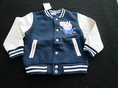 Boys Peppa Pig George bomber jackets    Size 1,3,4,5 & 6