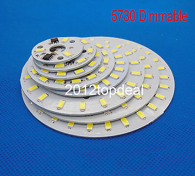 AC220v Dimmable LED PCB SMD5730 3w 5w 7w 10w 12w 15w 18w 24w panel Light Source