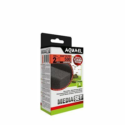 AQUAEL ASAP 500 CARBOMAX Replacement Filter Sponge 2pcs(nr 113736)