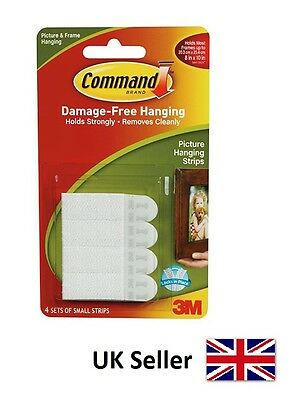 3M Command Small Strips For Damage Free Picture and Frame Hanging 17202