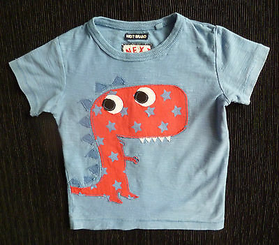 Baby clothes BOY 12-18m blue/red dinosaur NEXT cotton t-shirt COMBINE POST SHOP!