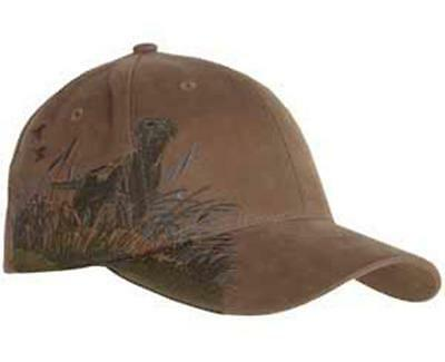 Dri Duck Hunting Dog Chocolate Lab Labrador Retriever Baseball Hat Cap Brown