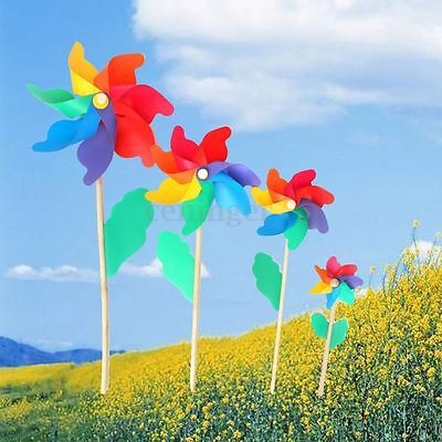 Multi Sizes Colorful Windmill Pinwheel Window Party Festival Decor Kid Toy Gift