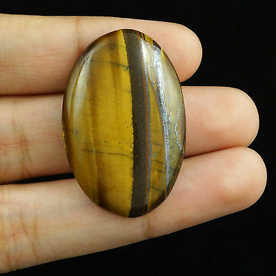 36.80CTS Magnificent Loose Brown TIGER EYE Cabochon Excellent Oval Gemstone