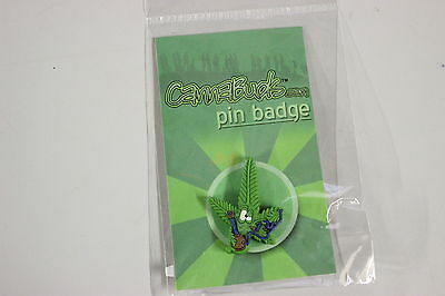 Cannabud Pin Badge With Billy Rrp $4.95