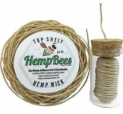 Organic HB Hemp Wick DISPENSER + 50 FT w/TRACKING lighter bee line