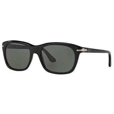 Persol Classics Black Polarized Grey Green Unisex Sunglasses PO3101S 95/58