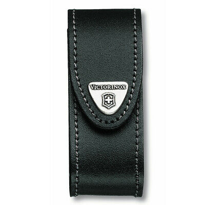 Swiss Army Knife Swiss Black Leather Pouch Victorinox  2-4 Layers 05690