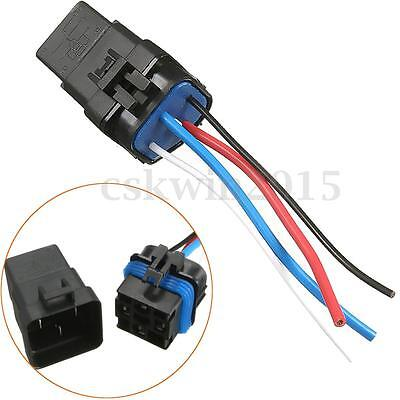 Set Of 12v 40A 4pin Waterproof Integrated Wired Car Auto Relay+Holder With Wires