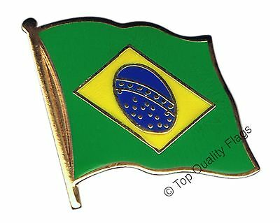Brazil Flag PIN BADGE 2x2cm