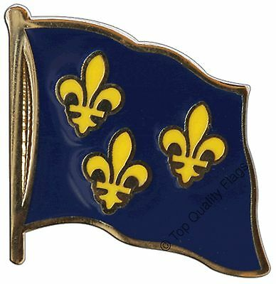 France Île-de-France coat of arms with lily Flag PIN BADGE 2x2cm