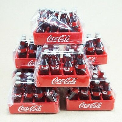 72 Soda Bottles Coke 6 Trays Dollhouse Miniature Beverage Collectibles Souvenir