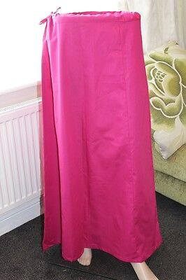 100% cotton Pink Petticoat Underskirt Saree Dupatta Small Medium Extra Large