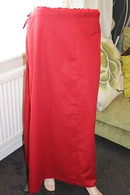 100% cotton Red Petticoat Underskirt Saree Dupatta Small Medium Extra Large