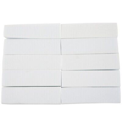 10x Pro Acrylic Nail Art Tips Buffer Buffing Sanding Block Files White Nail PK