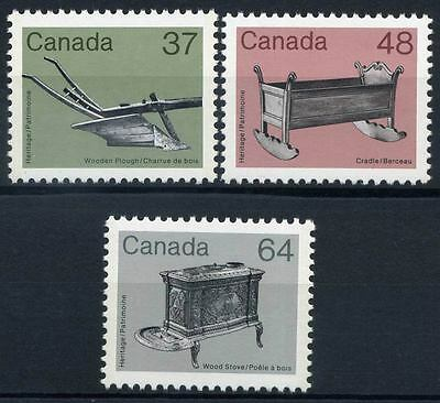 16-02-00509 - Canada 1983 Mi.  868-870 MNH 100% Old heritage objects