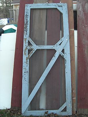 "Nice Original Victorian Screen Door Crafts Art Re-purpose 32"" by 81"""