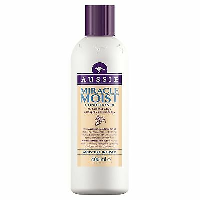 AUSSIE Miracle Moist Conditioner 400ML for Hair that's Dry/Damaged/a bit unhappy
