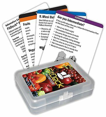 FitDeck Exercise Playing Cards - Nutrition - 23 Cards     *NEW*