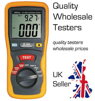 AMECaL ST-5500 Insulation Tester Equiv: Continuity / Megohm / Low Ohms Meter