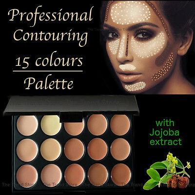 15 Color Contour Cream Concealer Kit Neutral Makeup Contouring Palette NEW