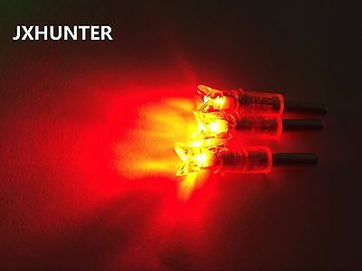3PK Archery hunting crossbow arrow nocks lighted nocks half moon shape in red