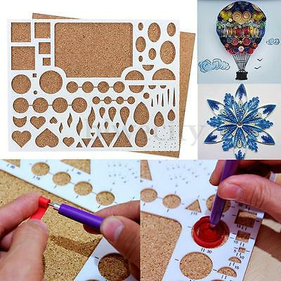 Paper Quilling Template Board Scrapbooks Papercraft DIY Tool 210mm*170mm*8mm