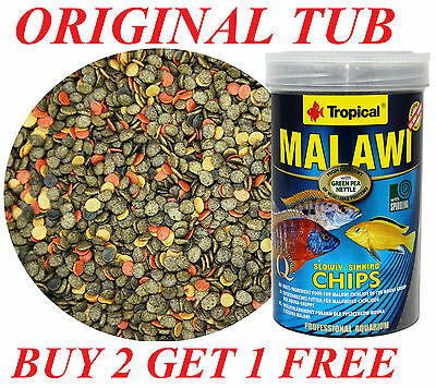 *buy 2 Get 1 Free* Malawi Mbuna Special Chips High Protein Cichlids 250Ml/130G,