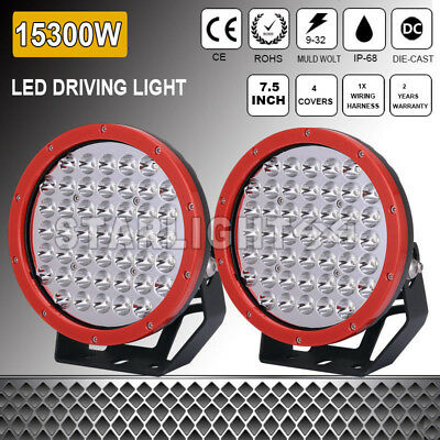 7.5INCH ROUND 1620W CREE LED WORK SPOT OFFROAD DRIVING LIGHTS 12V 24V 4WD 185w