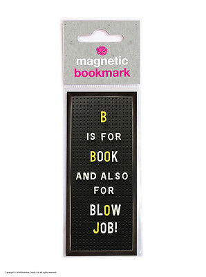 Brainbox Candy Reading black magnetic bookmark funny rude cheap present gift